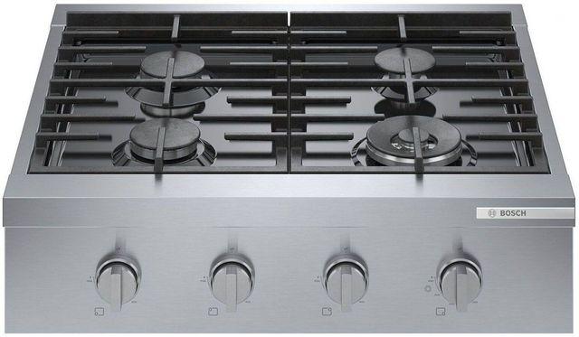"Bosch 800 Series 30"" Stainless Steel Industrial Style Slide In Natural Gas Rangetop-RGM8058UC"