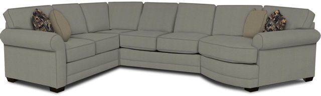 England Furniture Co. Brantley 4 Piece Culpepper Cement/Alvarado Mineral/Sagittarius Granite Sectional-5630-28-22-43-95+8612+6412+8601