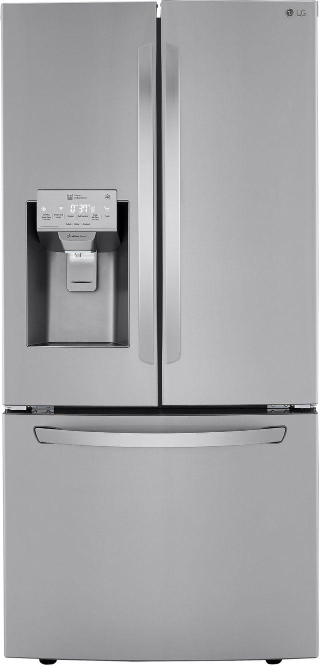Réfrigérateur à portes françaises de 33 po LG® de 24,5 pi³ - Acier inoxydable résistant aux traces de doigts-LRFXS2503S