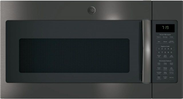 GE® Over The Range Microwave Oven-Black Stainless-JNM7196BLTS
