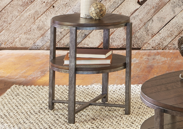 Liberty Furniture Breckinridge Round End Table-348-OT1020