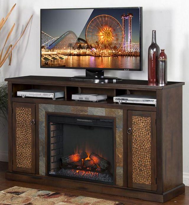 Sunny Designs Santa Fe Fireplace Console-3489DC-66R