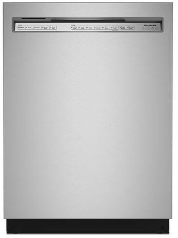 """KitchenAid® 24"""" PrintShield™ Stainless Steel Built In Dishwasher-KDFM404KPS"""
