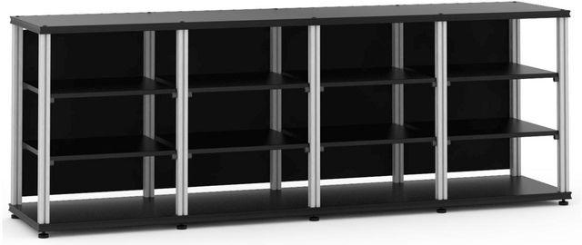 Salamander Designs® Synergy Quad 30 AV Cabinet-Black/Aluminum-SQ30B/A
