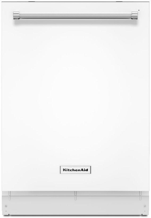 "KitchenAid® 24"" White Built In Dishwasher-KDTM404EWH"