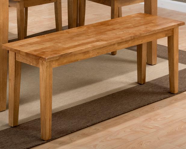 Jofran Inc. Simplicity Honey Wooden Bench-352-14KD