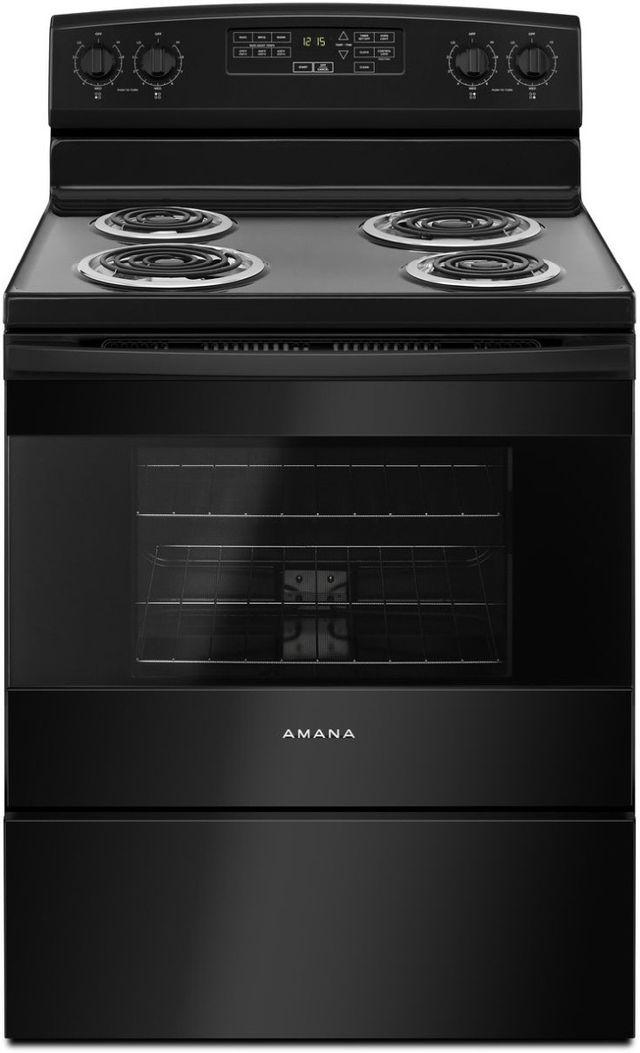"Amana® 29.88"" Black Free Standing Electric Range-ACR4503SFB"