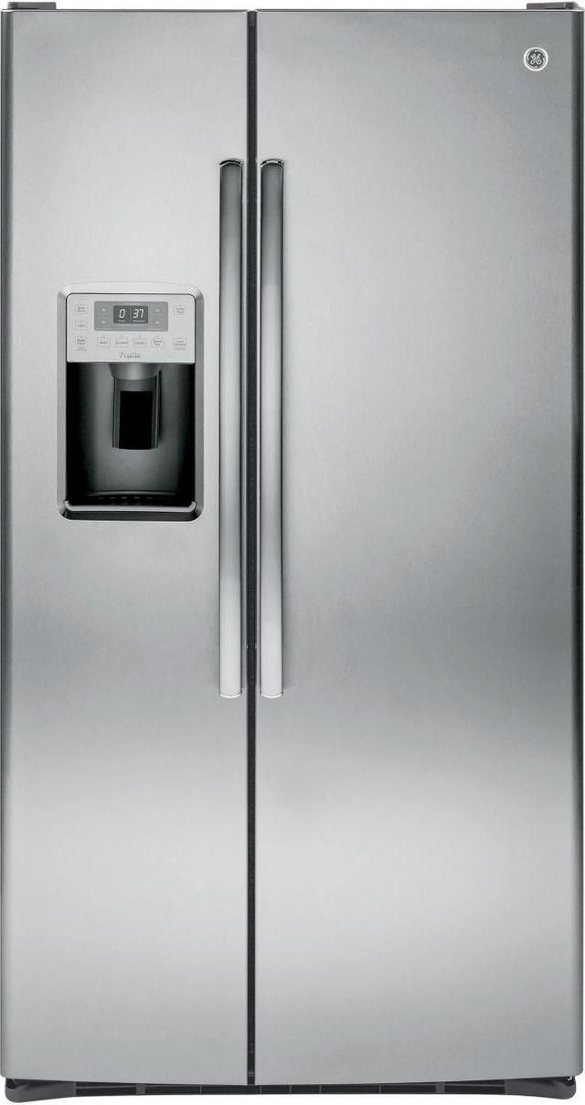 GE® Profile™ Series 28.16 Cu. Ft. Stainless Steel Side-by-Side Refrigerator-PSS28KSHSS