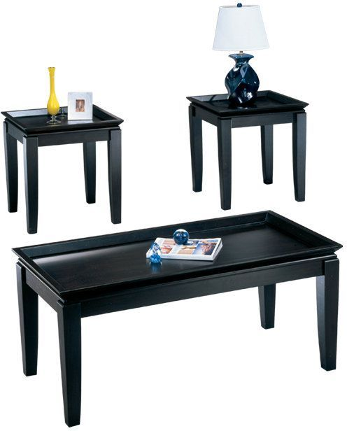 Signature Design by Ashley® Delormy Almost Black Occasional Table Set (3/CN)-T131-13