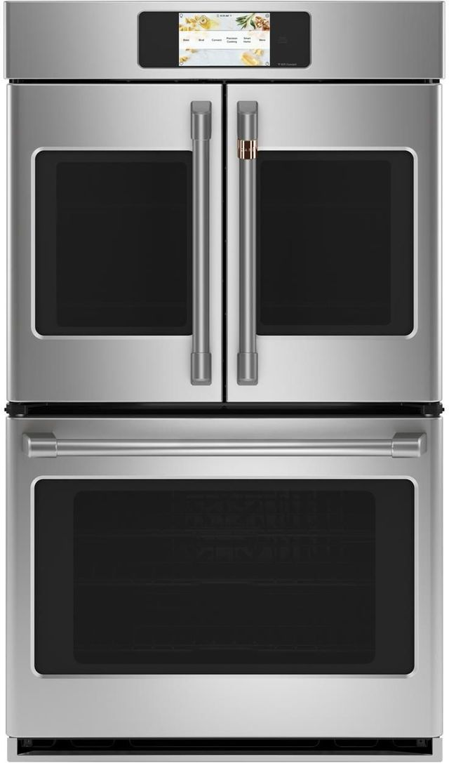 """Café™ Professional Series 29.75"""" Stainless Steel Smart Built In Convection French Door Double Wall Oven-CTD90FP2NS1"""