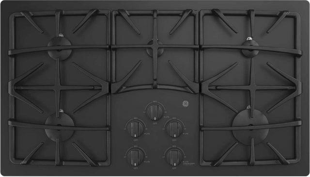 """GE® 36"""" Built-In Gas Cooktop-Black-JGP5536DLBB"""