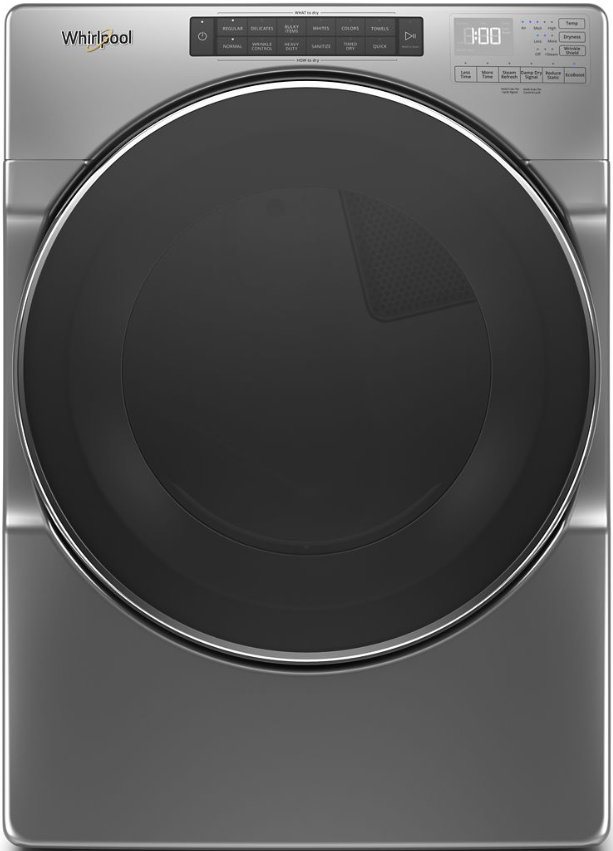 Whirlpool® 7.4 Cu. Ft. Chrome Shadow Front Load Gas Dryer-WGD6620HC