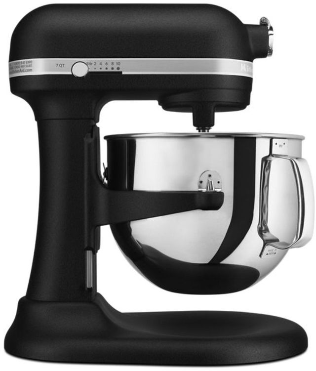 KitchenAid® Pro Line® Series Cast Iron Black 7 Quart Stand Mixer-KSM7586PBK