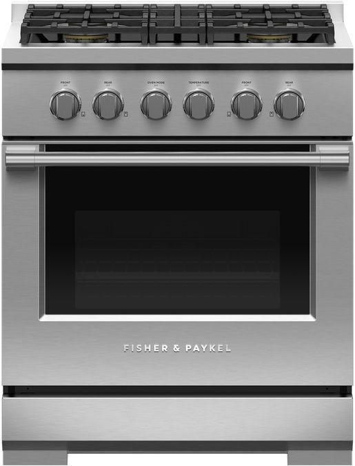 Cuisinière au gaz style Pro Fisher Paykel® de 4,6 pi³ de 30 po - Acier inoxydable-RGV3-304-L
