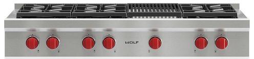 "Wolf® 48"" Pro Style Gas Rangetop-SRT486C"