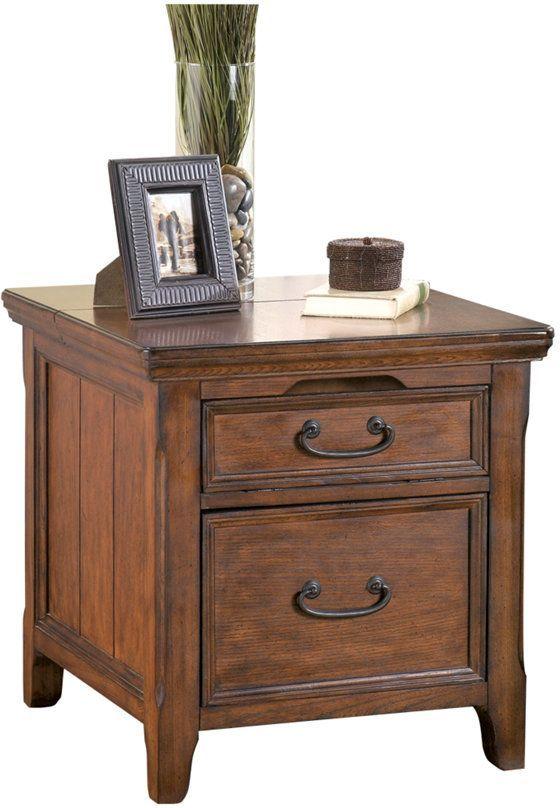 Signature Design by Ashley® Woodboro Dark Brown Media End Table-T478-17