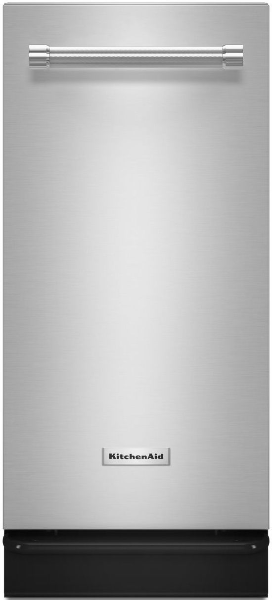 """KitchenAid® 15"""" Stainless Steel Built In Trash Compactor-KTTS505ESS"""