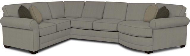 England Furniture Co. Brantley 4 Piece Culpepper Cement/Alvarado Mineral/Eloise Fog Sectional-5630-28-22-43-95+8612+8757+8601