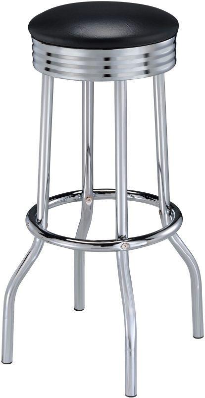 Coaster® Retro Black Soda Fountain Bar Stool-2408