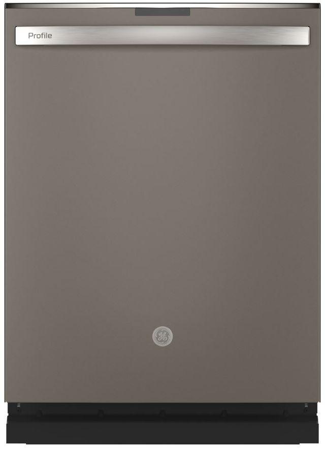 """GE Profile™ 24"""" Slate Built In Dishwasher-PDT715SMNES"""