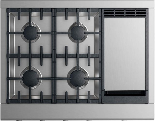 """Fisher Paykel Professional 36"""" Gas Rangetop-Stainless Steel-CPV2-364GDL N"""