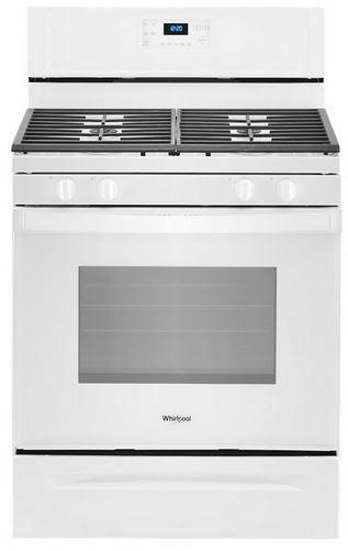 "Whirlpool® 30"" White Free Standing Gas Range-WFG515S0JW"