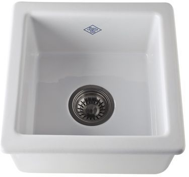 """Rohl® Shaws Original 15"""" Kitchen or Bar Sink-White-RC1515WH"""