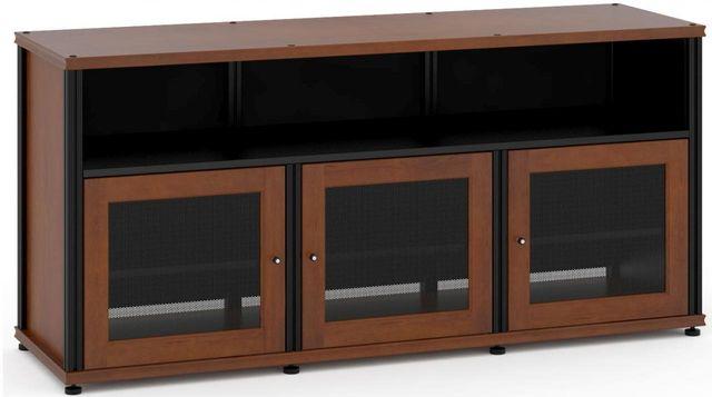 Salamander Designs® Synergy Model 339 AV Cabinet-Dark Cherry/Black-SB339C/B