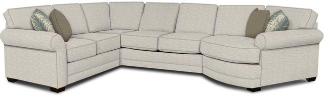 England Furniture Co. Brantley 4 Piece Culpepper Snow/Alvarado Mineral/Peyton Fawn Sectional-5630-28-22-43-95+8613+8656+8601
