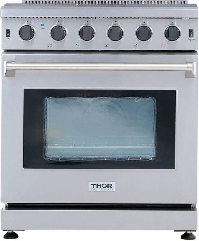"Thor Kitchen® Professional 30"" Stainless Steel Pro Style Gas Range-LRG3001U"