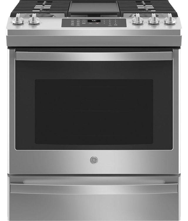 Cuisinière au gaz encastrée GE® de 5,6 pi³ de 30 po - Acier inoxydable-JCGS760SPSS
