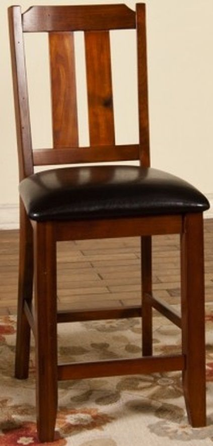 Sunny Designs Route 66 Distressed Walnut Barstool-1871BC-24