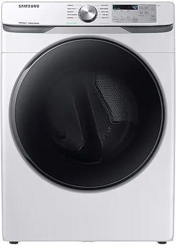 Samsung 7.5 Cu. Ft. White Front Load Gas Dryer-DVG45R6100W