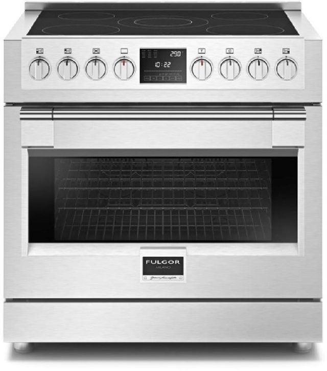 """Fulgor Milano Sofia 36"""" Stainless Steel Professional Free Standing Induction Electric Range-F6PIR365S1"""