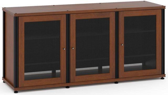 Salamander Designs® Synergy Model 337 AV Cabinet-Dark Cherry/Black-SB337C/B