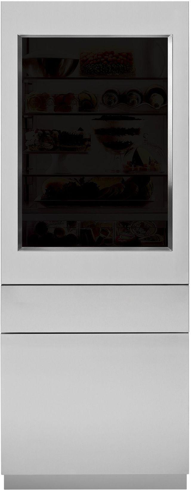 """Monogram® 30"""" Stainless Steel Glass Door Panel-ZKGSN809NLH"""