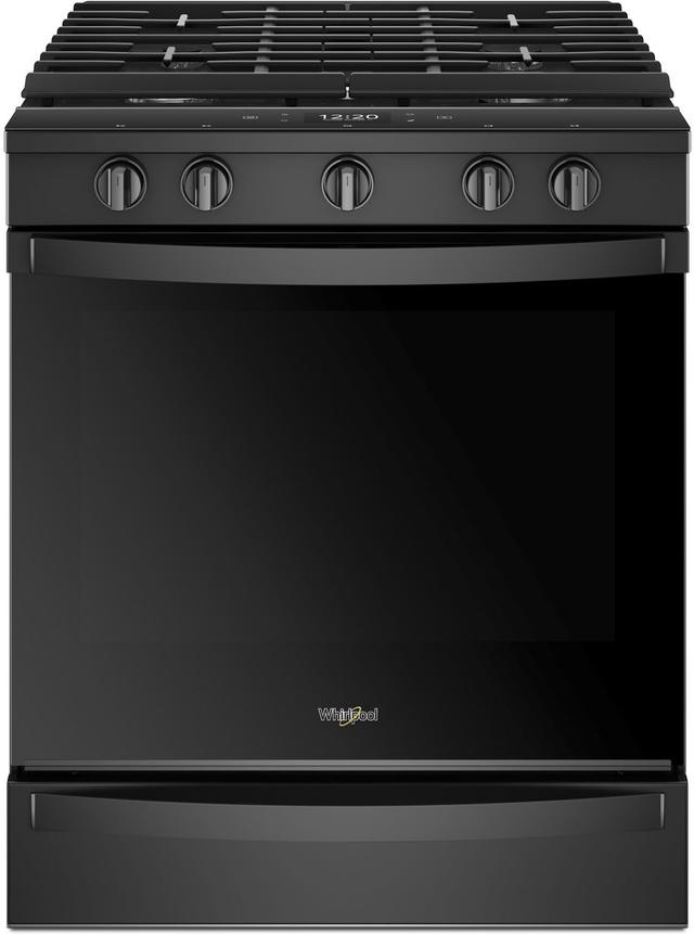 """Whirlpool® 30"""" Smart Slide-In Gas Range-Black-WEG750H0HB"""