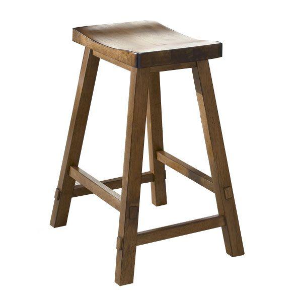 Liberty Furniture Creations II Tobacco Sawhorse Barstool-38-B1824