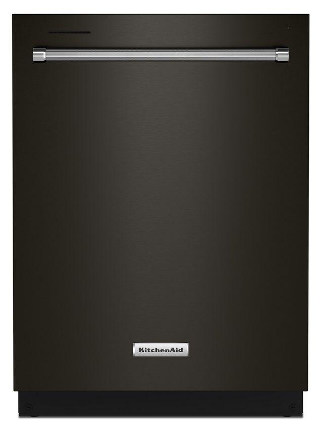 Lave-vaisselle encastré KitchenAid® PrintShield™ de 24 po - Acier inoxydable noir-KDTM404KBS