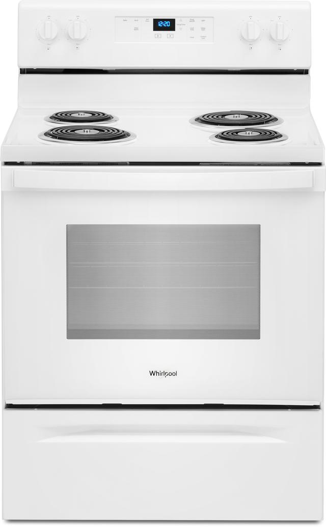 "Whirlpool® 30"" White Free Standing Electric Range-WFC315S0JW"