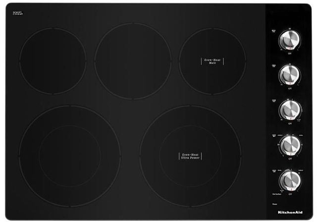 """KitchenAid® 30"""" Stainless Steel Electric Cooktop-KCES550HSS"""