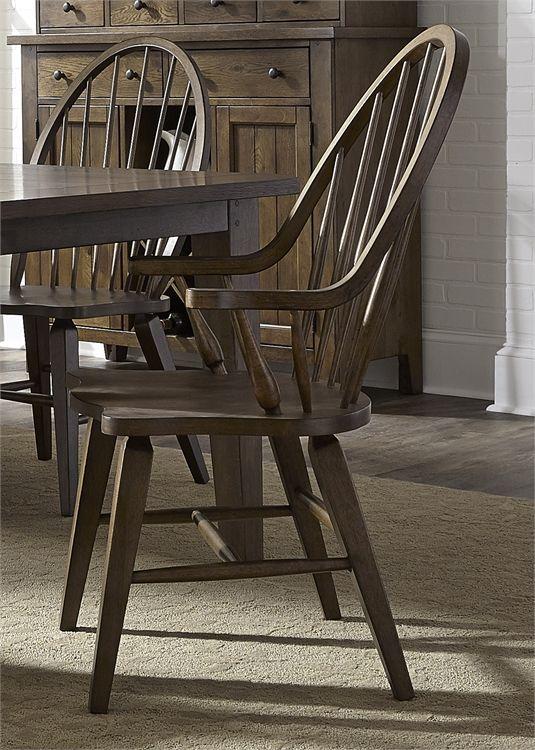 Liberty Furniture Hearthstone Rustic Oak Arm Chair-382-C1000A