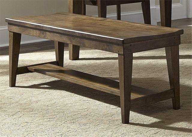 Liberty Furniture Hearthstone Rustic Oak Bench-382-C9000B