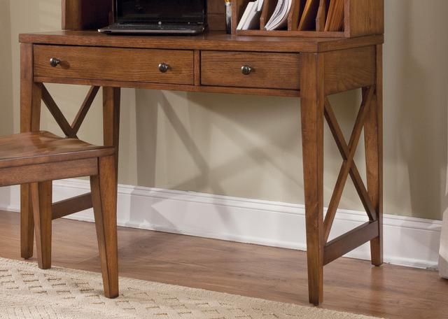 Liberty Furniture Hearthstone Rustic Oak Home Office Writing Desk-382-HO111