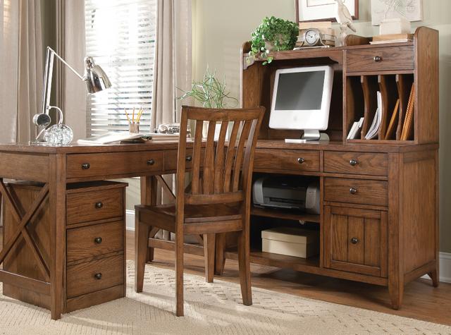 Liberty Furniture Hearthstone Rustic Oak Home Office Corner Filler-382-HO111C