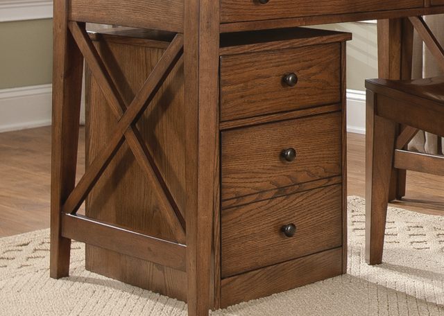 Liberty Furniture Hearthstone Rustic Oak Home Office Mobile File Cabinet-382-HO146