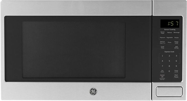 GE® 1.6 Cu. Ft. Stainless Steel Countertop Microwave-JES1657SMSS
