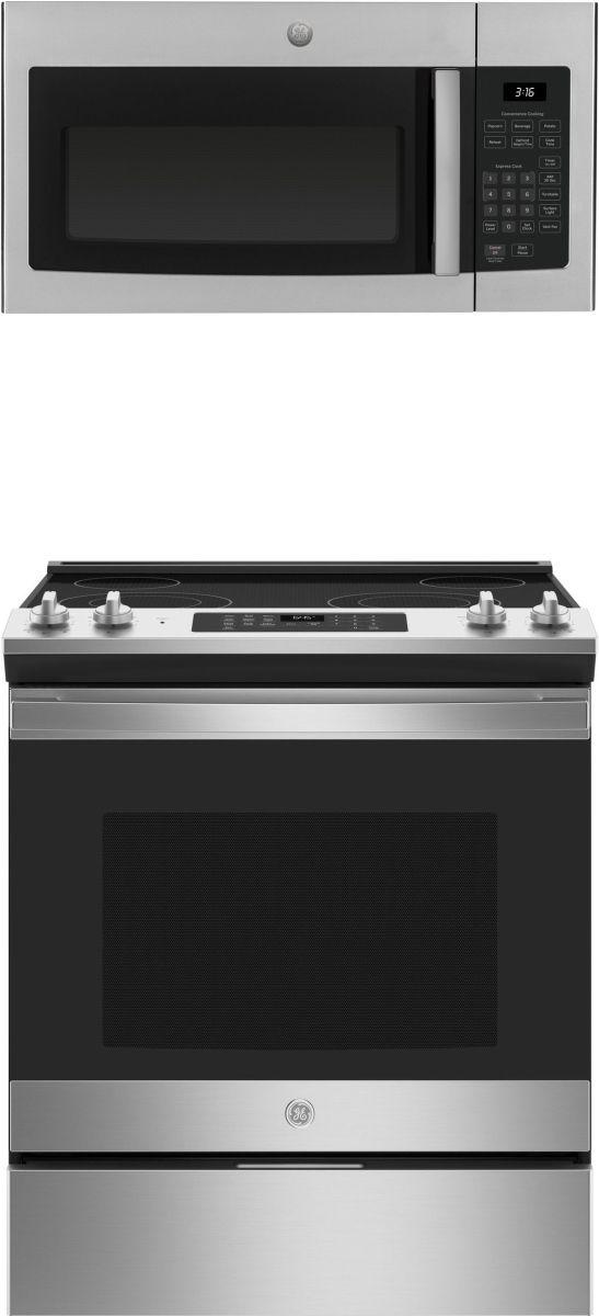 GE® 2 Piece Stainless Steel Kitchen Package-GEKITJS645SLSS2