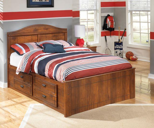 Barchan Medium Brown Under Bed Storage with Side Rail-B228-50