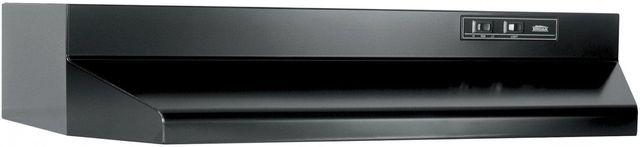 """Broan® Buez0 30"""" Black Ducted Under Cabinet Range Hood-BUEZ030BL"""